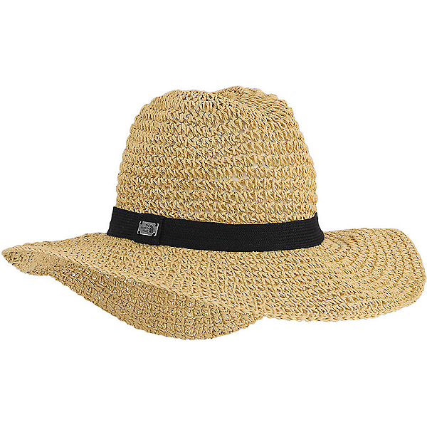 The North Face Market Sun Brimmer Womens Hat, TNF Black-Natural Straw, 600