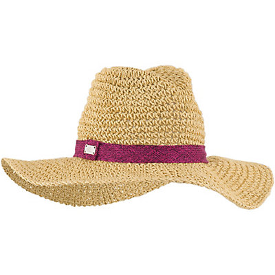 The North Face Market Sun Brimmer Womens Hat, TNF Black-Natural Straw, viewer