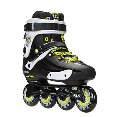 Fila Skates NRK Fun Inline Skates, Black-Yellow, viewer