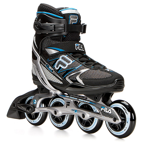 Fila Skates Plume Inline Skates, Black-Blue, 600