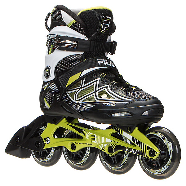 Fila Skates Primo Air Flow Womens Inline Skates, Black-Lime, 600