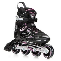 Fila Skates Primo ALU Womens Inline Skates, Black-Violet, 256