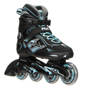 Fila Skates Primo Comp Womens Inline Skates 2016, Black-Light Blue, medium