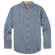 Burton Glade Long Sleeve Mens Shirt, Light Chambray, medium