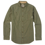 Burton Glade Long Sleeve Mens Shirt, Olive Night Chambray, medium