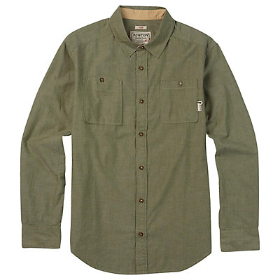 Burton Glade Long Sleeve Mens Shirt, Light Chambray, viewer