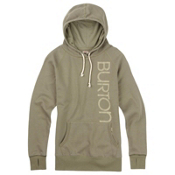 Burton Antidote Fleece Pullover Womens Hoodie, Vetiver Heather, medium