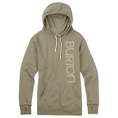 Burton Antidote Fleece Pullover Womens Hoodie, Vetiver Heather, viewer