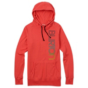 Burton Antidote Fleece Pullover Womens Hoodie, Hot Coral, medium