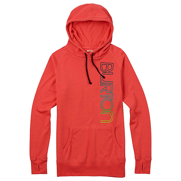 Burton Antidote Fleece Pullover Womens Hoodie, Hot Coral, 600