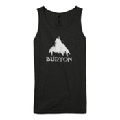 Burton Stamped Mountain Mens Tank Top, True Black Heather, medium