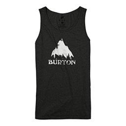 Burton Stamped Mountain Mens Tank Top, True Black Heather, 256