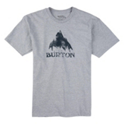 Burton Stamped Mountain Mens T-Shirt, Gray Heather, medium
