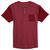 Burton Dwight Short Sleeve Pocket Mens T-Shirt, Brick Red Heather, medium