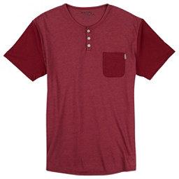 Burton Dwight Short Sleeve Pocket Mens T-Shirt, Brick Red Heather, 256