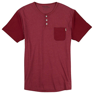 Burton Dwight Short Sleeve Pocket Mens T-Shirt, Brick Red Heather, viewer