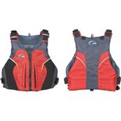 MTI Java Adult Kayak Life Jacket, Red-Dark Gray, medium