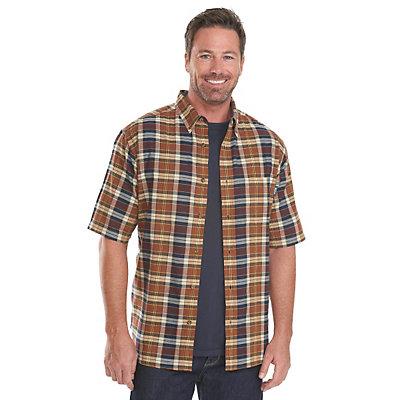 Woolrich Timberline Madras Plaid Mens Shirt, Nordic Blue, viewer