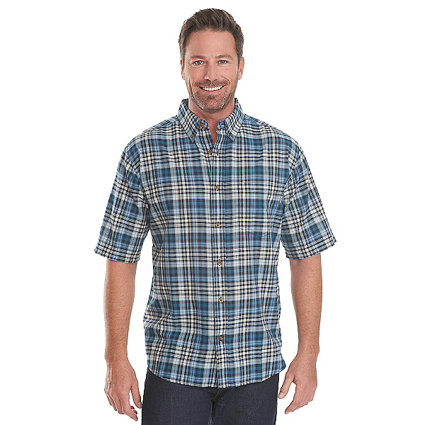 Woolrich Timberline Madras Plaid Mens Shirt, Nordic Blue, 600