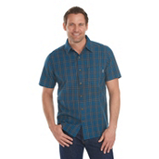 Woolrich Amblewood Madras Plaid Mens Shirt, Nordic Blue, medium
