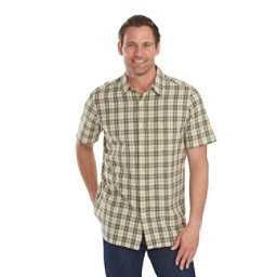 Woolrich Amblewood Madras Plaid Mens Shirt, Vanilla, 256