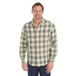Woolrich Cedar Springs Buffalo Check Mens Shirt, Field Gray, 256