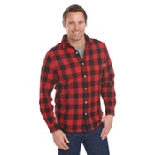 Woolrich Cedar Springs Buffalo Check Mens Shirt, Old Red, medium