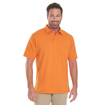 Woolrich First Forks 1-Pocket Polo Mens Shirt, Burnt Orange, viewer