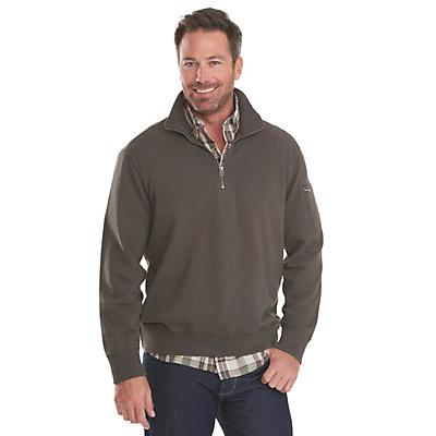Woolrich Standing Stone Half Zip Mens Sweater, Deep Indigo, viewer