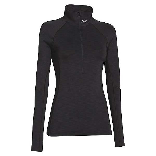 Under Armour ColdGear Cozy Half Zip, Black-Metallic Silver, 600