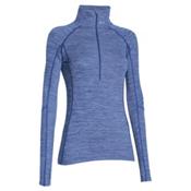 Under Armour ColdGear Cozy Half Zip Womens Shirt, Cobalt-Metallic Silver, medium