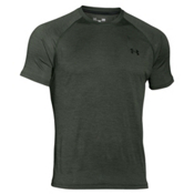Under Armour Tech Short Sleeve Mens T-Shirt, Combat Green-Laser Green, medium