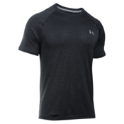 Under Armour Tech Short Sleeve Mens T-Shirt, Black-Steel, medium