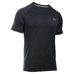Under Armour Tech Short Sleeve Mens T-Shirt, Black-Steel, 256