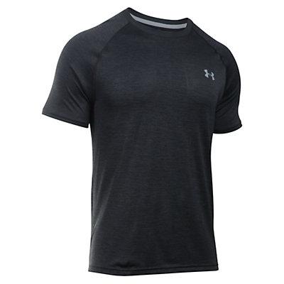 Under Armour Tech Short Sleeve Mens T-Shirt, Carbon Heather-Black, viewer