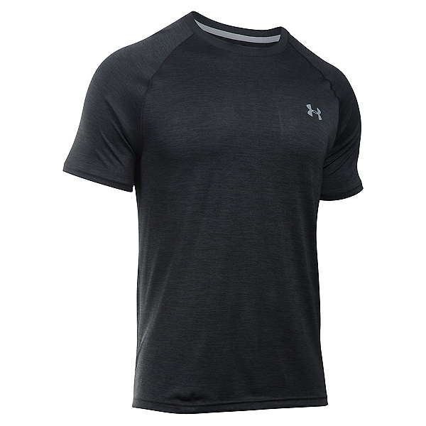 Under Armour Tech Short Sleeve Mens T-Shirt, Black-Steel, 600