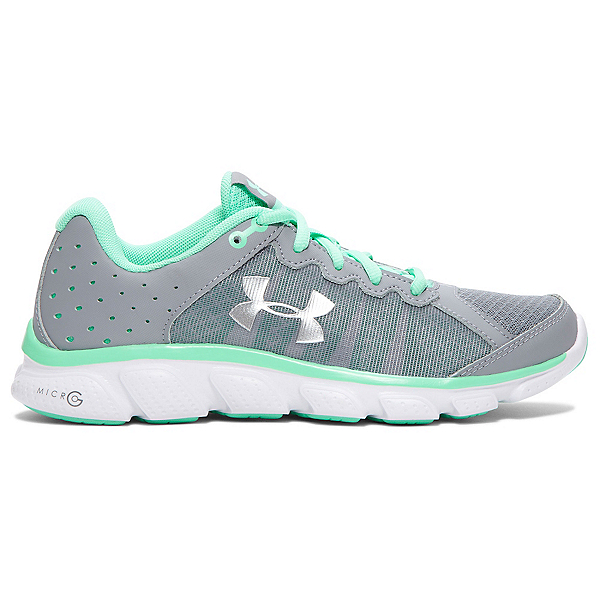 Under Armour Micro G Assert 6 Womens Athletic Shoes, Steel-Antifreeze-Metallic Silv, 600