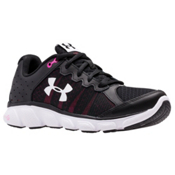 Under Armour Micro G Assert 6 Womens Athletic Shoes, Black-Harmony Red-White, medium
