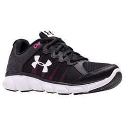 Under Armour Micro G Assert 6 Womens Athletic Shoes, Black-Harmony Red-White, 256