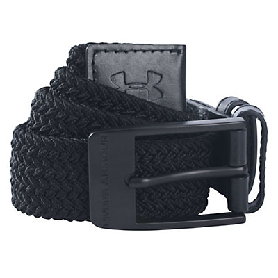 Under Armour Braided Belt, Black, viewer