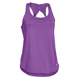 Under Armour Fly-By 2.0 Womens T-Shirt, Mega Magenta-Mega Magenta-Refl, 256