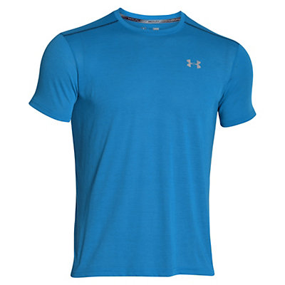 Under Armour Streaker Short Sleeve Mens T-Shirt, Squadron-Blackout Navy-Reflect, viewer