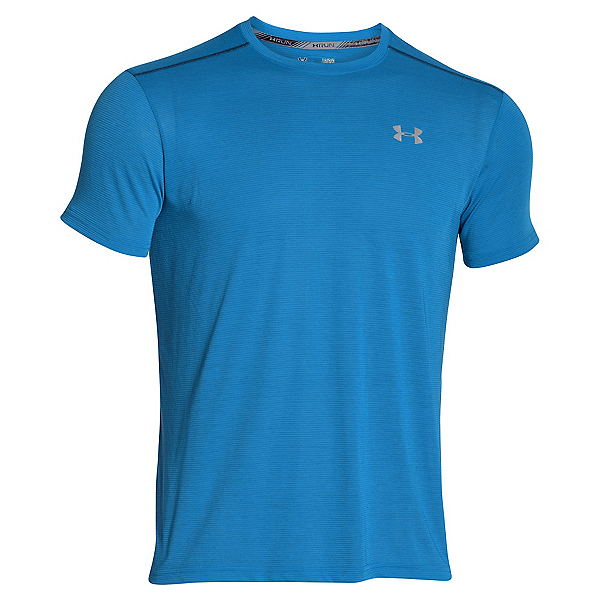 Under Armour Streaker Short Sleeve Mens T-Shirt, Squadron-Blackout Navy-Reflect, 600