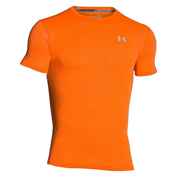 Under Armour Streaker Short Sleeve Mens T-Shirt, Beta Orange-Beta Orange-Reflec, 600
