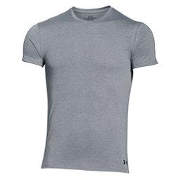 Under Armour Core Crew 2-Pack Mens T-Shirt, True Gray Heather-Black, 256