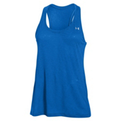 Under Armour Tech Slub Tank Top Womens T-Shirt, Ultra Blue-Metallic Silver, medium