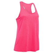Under Armour Tech Slub Tank Top Womens T-Shirt, Harmony Red-Metallic Silver, medium