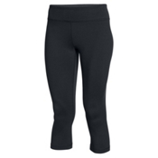 Under Armour Mirror Capri Womens Pant, Black-Silver, medium
