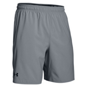 Under Armour Qualifier Mens Short, Steel-Black, medium