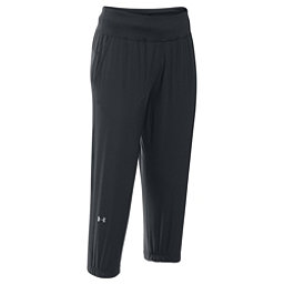 Under Armour HeatGear Sunblock 50 Womens Pants, Black-Metallic Silver, 256